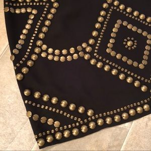 Remain Skirts - ✨Remain Black with Bronze Metal Bead Mini Skirt